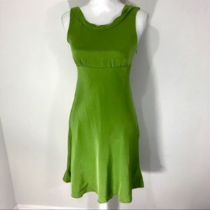 J crew 100% silk green empire waist dress
